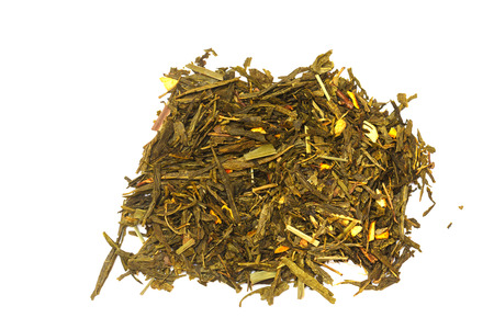 antioxidant: Dried green tea close-up. Healthy lifestyle. Antioxidant in the drink. Tea ceremony.