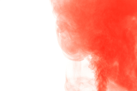 humidifier: Abstract red water vapor on a white background. Texture. Design elements. Abstract art. Steam the humidifier. Macro shot.