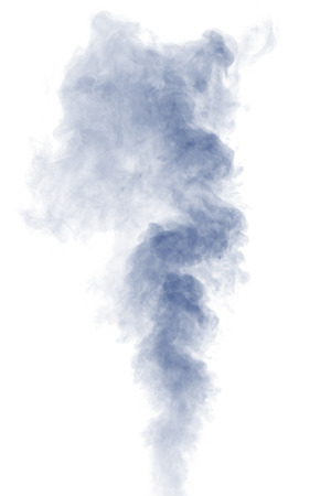 humidifier: Abstract blue water vapor on a white background. Texture. Design elements. Abstract art. Steam the humidifier. Macro shot.