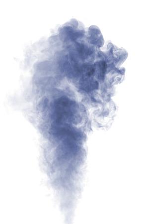 抽象的な白地に青い水を蒸気。テクスチャです。デザイン要素です。抽象的なアート。加湿器を蒸気します。マクロ撮影します。 写真素材