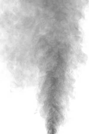 grey water: Abstract gray water vapor on a white background. Texture. Design elements. Abstract art. Steam the humidifier. Macro shot.