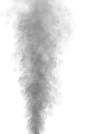 humidifier: Abstract gray water vapor on a white background. Texture. Design elements. Abstract art. Steam the humidifier. Macro shot.