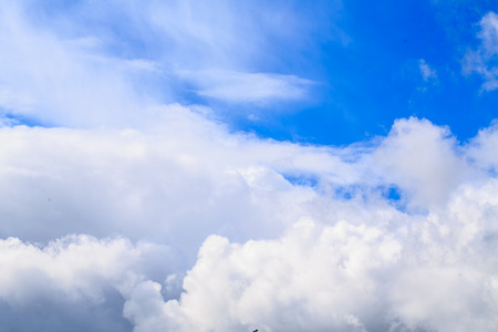 weather front: Blue sky with clouds background. Synoptics. Good weather. Changes in the weather. Cloud Front.
