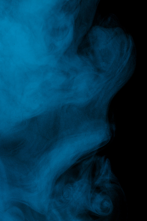 Abstract aquamarine water vapor on a black background. Texture. Design elements. Abstract art. Steam the humidifier. Macro shot. Stock Photo
