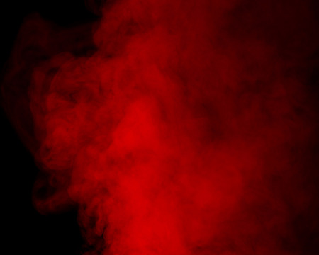 humidifier: Abstract red water vapor on a black background. Texture. Design elements. Abstract art. Steam the humidifier. Macro shot.