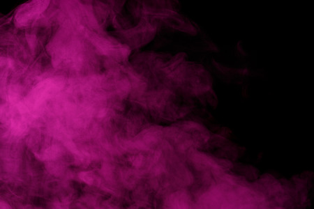 humidifier: Abstract purple water vapor on a black background. Texture. Design elements. Abstract art. Steam the humidifier. Macro shot.