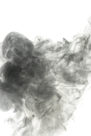 artistic addiction: Abstract smoke Weipa pairs. The concept of alternative non-nicotine smoking. Smoke on a white background. E-cigarette. Evaporator. Taking Close-up.