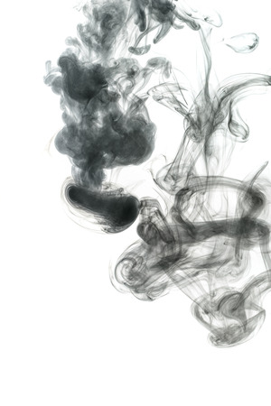 Abstract smoke Weipa pairs. The concept of alternative non-nicotine smoking. Smoke on a white background. E-cigarette. Evaporator. Taking Close-up.