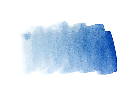 Cobalt blue watercolor background. The gradient color transition from the intense blue to light blue. Design elements. Painting. Grunge colorful background on watercolor paper.