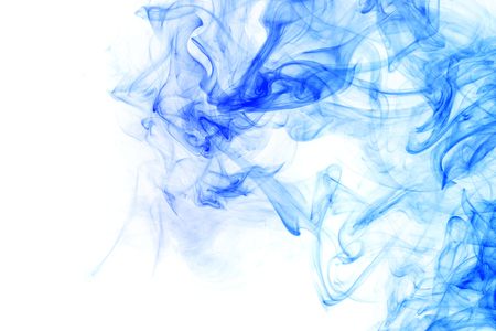 dynamic trend: Abstract smoke Weipa. Personal vaporizers fragrant steam. The concept of alternative non-nicotine smoking. Blue vape smoke on a white background. E-cigarette. Evaporator. Taking Close-up. Vaping.