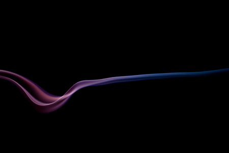 Abstract Art Color Red Blue Smoke From The Aromatic Sticks On