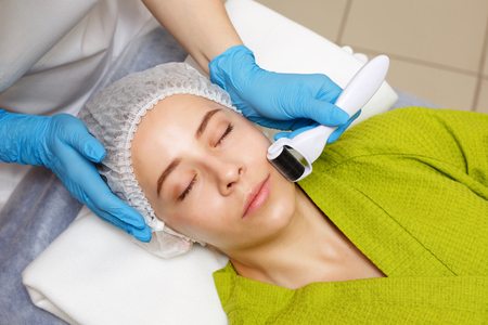 Hardware cosmetology. Mesotherapy. Dermaroller. Treatment of the zone of cheekbones. Spa treatments. Face rejuvenation.