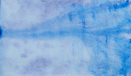 Blue violet abstract watercolor art hand-painted. Watercolor background. Element of design. Color gradient.