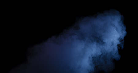 Abstract blue smoke from an electronic cigarette. Couples. Design Elements
