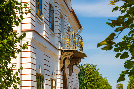 made russia: Two-story historic mansion in the French style of the late 18th century Stock Photo