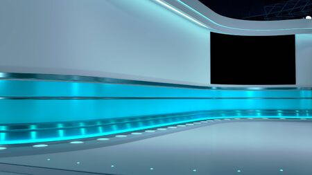 TV Virtual Studio background 3d illustration 免版税图像