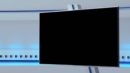 TV Virtual Studio background 3d illustration Banque d'images