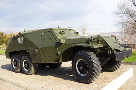 armored: Soviet BTR-152 wheeled armored personnel carrier Editorial
