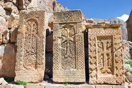 apostolic: Armenian Khachkars , cross-stones Stock Photo