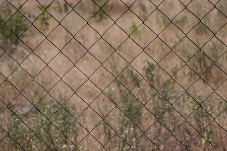 delimit: Wire fence Stock Photo