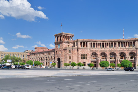 central government: The Government House. Holds the main offices of the Government of Armenia. Located on Republic Square  the large central town square in Yerevan Armenia