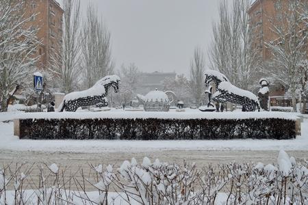cascade: View from Cascade, Yerevan, Armenia Editorial