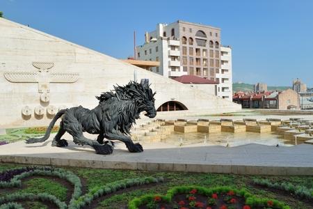 cascade: Lion sculpture, Cascade Yerevan, Armenia