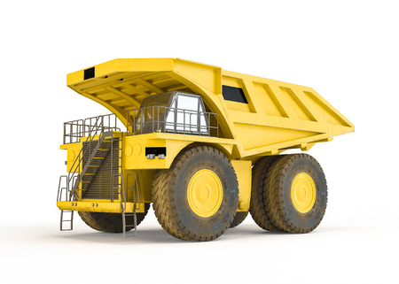 haul: Large haul truck isolated on white background