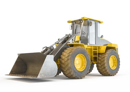 motor hoe: Excavator isolated on white background Stock Photo