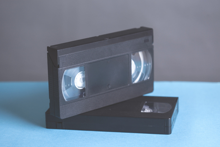 video cassette on table 스톡 콘텐츠