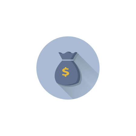 money bag vector flat icon