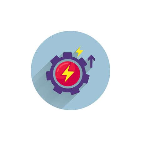 motivation flat icon. development colorful flat icon with long shadow. development flat icon 向量圖像