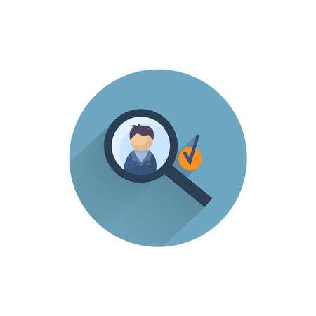 prospect worker flat icon. worker choice colorful flat icon with long shadow. prospect flat icon 向量圖像