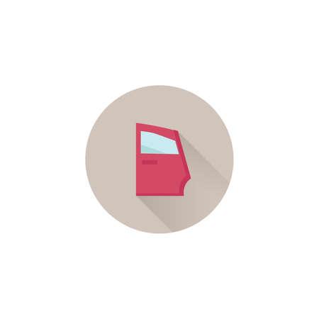 car door colorful vector flat icon