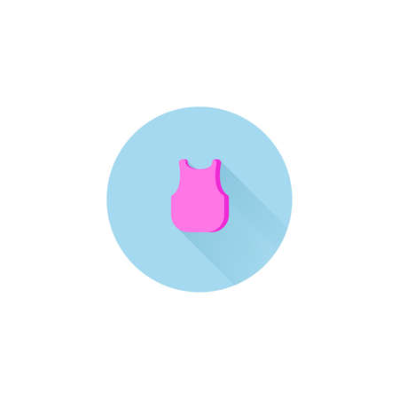 singlet flat icon. line icon