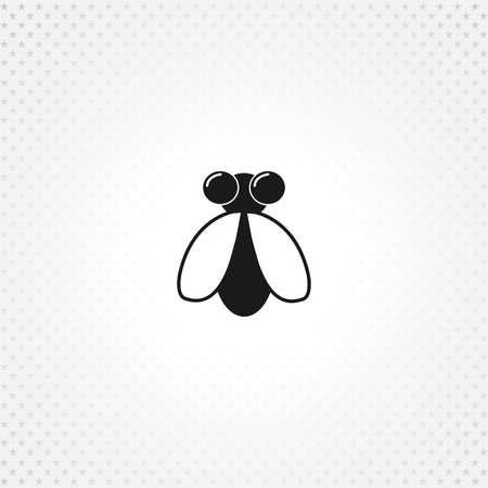 fly icon on white background