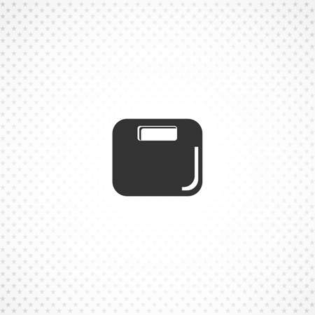 electronic fitness scales icon for mobile concept and web apps design