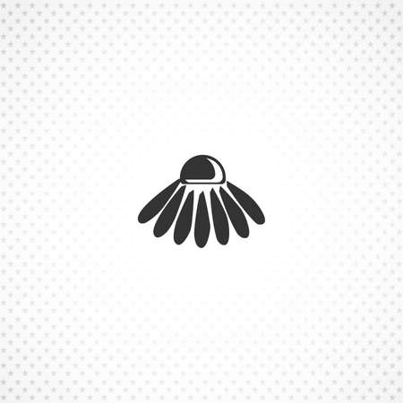 chamomile flower icon for mobile concept and web apps design 向量圖像