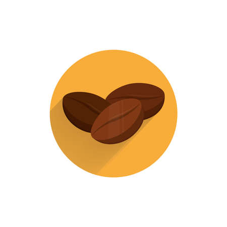 Coffee bean design element for illustration. flat icon.