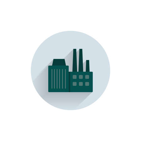 factory colorful flat icon with shadow. pollution icon
