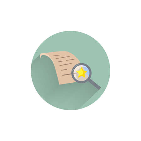 Assessment flat icon. auditing colorful flat icon with long shadow. auditing flat icon Ilustração