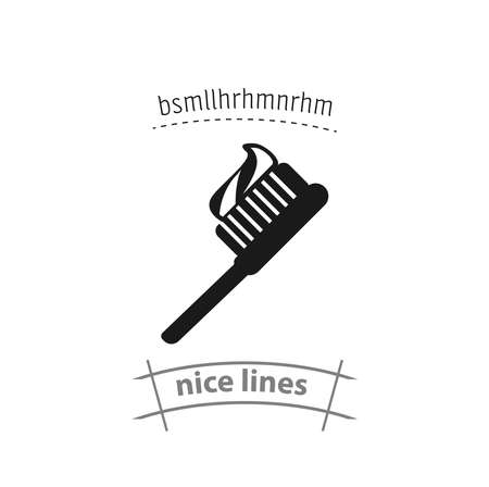 Toothbrush isolated vector icon. medical design element