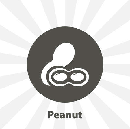 Peanuts isolated vector icon. fruit design element