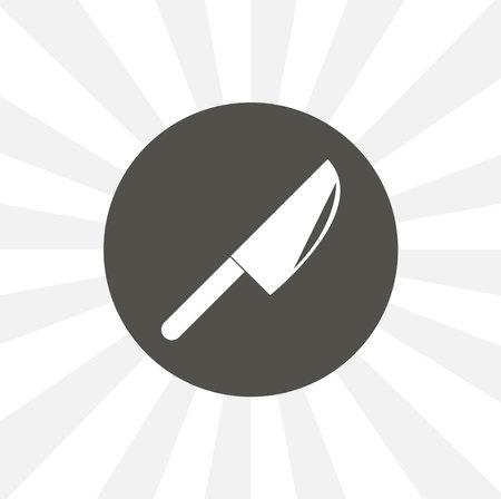 Kitchen, ax isolated vector icon. food design element Ilustracja
