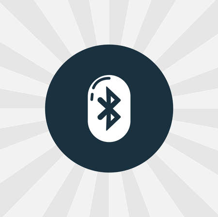 bluetooth isolated vector icon. digital technologies design element