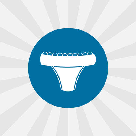 Underpants isolated vector icon. shopping design element Иллюстрация