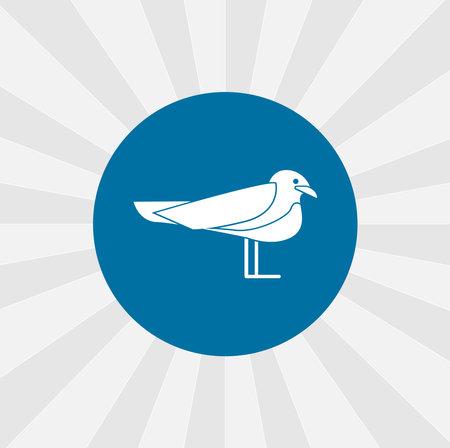 seagull isolated vector icon. sea bird design element