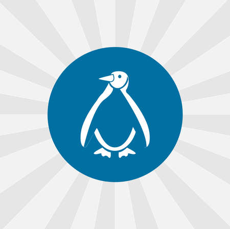 Emperor Penguin isolated vector icon. sea animal design element