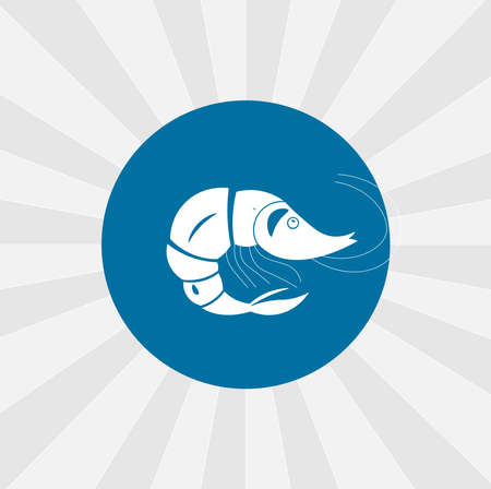shrimp icon. Fish and sea products isolated vector icon. sea animal design element