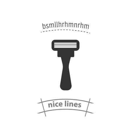 shaving razor isolated vector icon. beauty, cosmetics design element